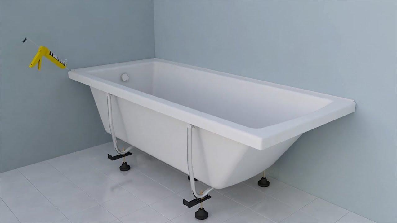 Как установить акриловую ванну?