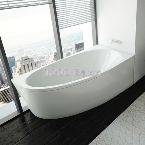 Ванна акриловая АКВАТЕК Дива правая 170х90 (без гидромассажа)