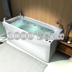 Ванна акриловая АКВАТЕК Альфа 150х70 (с  гидромассажем) Flat Chrome