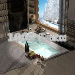 Ванна акриловая АКВАТЕК Альфа 170х70 (с гидромассажем) Flat Bronze