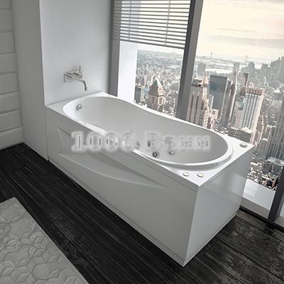 Ванна акриловая АКВАТЕК Афродита 150х70 (с гидромассажем на электроуправлении) Flat Chrome