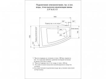 Ванна акриловая Акватек Оракул 180 см
