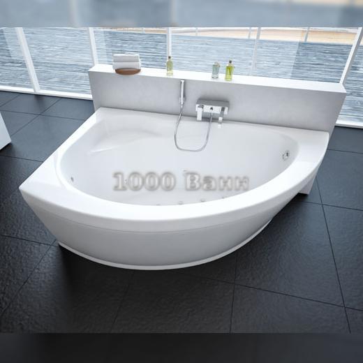 Ванна акриловая АКВАТЕК Аякс 2 170х110 (с гидромассажем) Premium