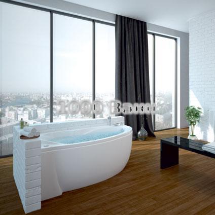 Ванна акриловая АКВАТЕК Бетта 160х97 (с гидромассажем на электроуправлении) Premium