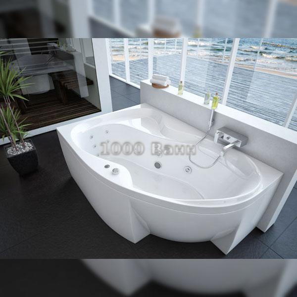 Ванна акриловая АКВАТЕК Вега 170х105 (с гидромассажем) Koller