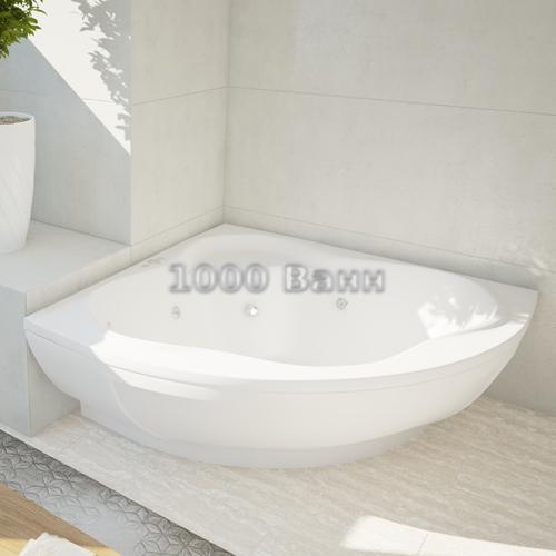 Ванна акриловая АКВАТЕК Галатея 135х135 (с гидромассажем) Standard