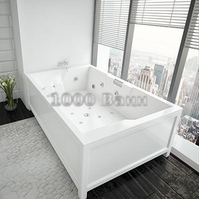 Ванна акриловая АКВАТЕК Дорадо 190х130 (с гидромассажем) Premium