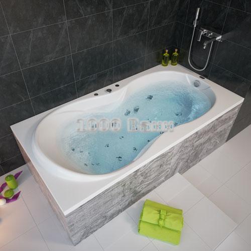 Ванна акриловая АКВАТЕК Мартиника 180х90 (с гидромассажем) Premium