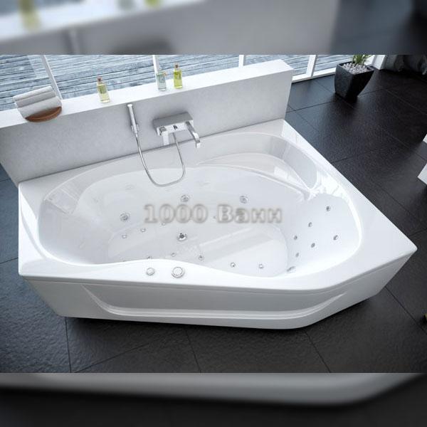 Ванна акриловая АКВАТЕК Медея 170х95 (с гидромассажем на электроуправлении) Flat Chrome