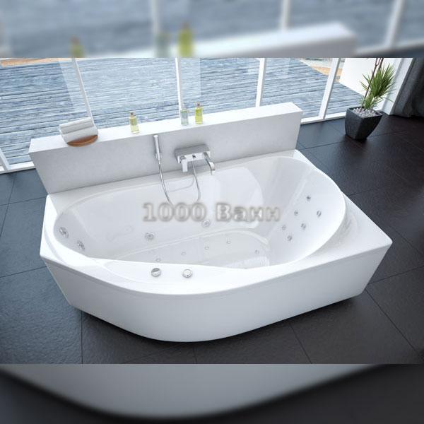 Ванна акриловая АКВАТЕК Таурус 170х100 (с гидромассажем на электроуправлении) Flat Chrome