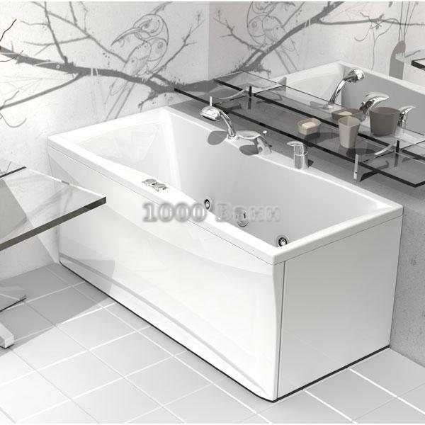 Ванна акриловая АКВАТЕК Феникс 170х75 (с гидромассажем на электроуправлении) Flat Chrome