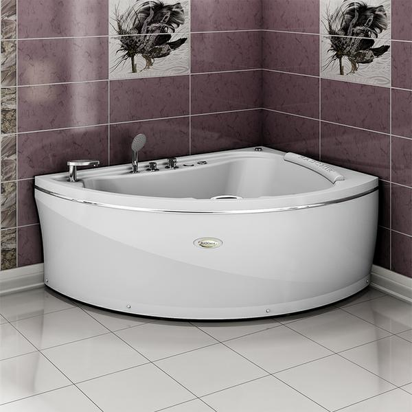 """Акриловая ванна """"Альбена"""" 168х120 (с гидромассажем)"""