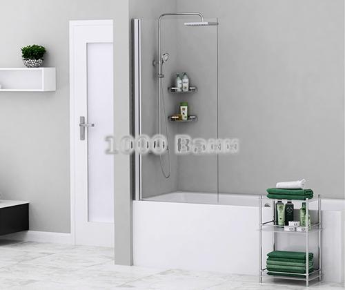 Стеклянная шторка на ванну WasserKRAFT Berkel 48P01-80 800x1400