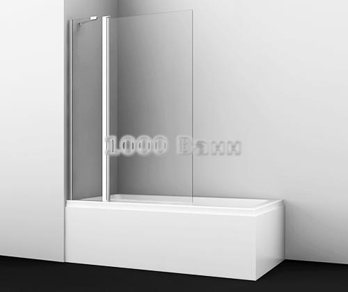 Стеклянная шторка на ванну WasserKRAFT Berkel 48P02-110 1100x1400