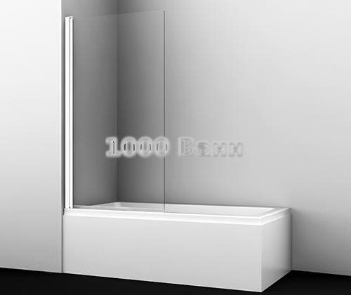 Стеклянная шторка на ванну WasserKRAFT Berkel 48P02-110 WHITE Fixed 1100x1400