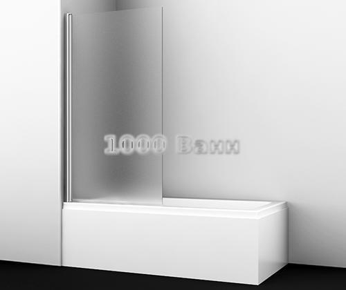 Стеклянная шторка на ванну WasserKRAFT Berkel 48P01-80R Matt glass 800x1400