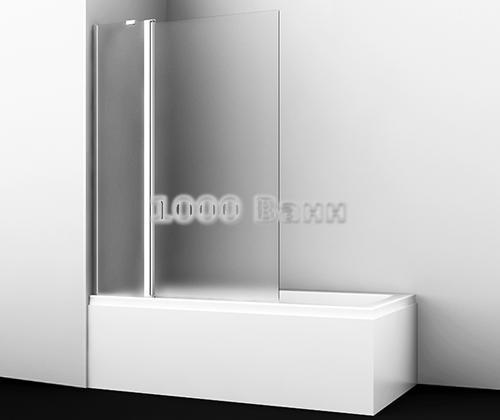 Стеклянная шторка на ванну WasserKRAFT Berkel 48P02-110L Matt glass Fixed 1100x1400