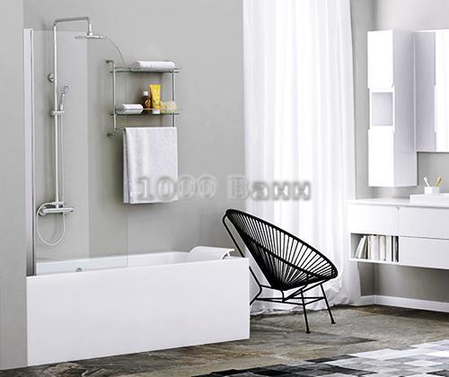 Стеклянная шторка на ванну WasserKRAFT Leine 35P01-80 800x1400