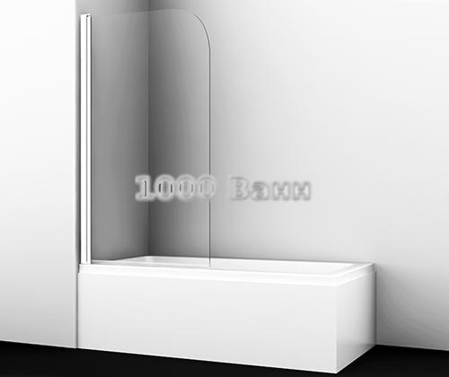 Стеклянная шторка на ванну WasserKRAFT Leine 35P01-80 WHITE 800x1400