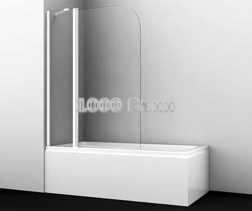 Стеклянная шторка на ванну WasserKRAFT Leine 35P02-110 WHITE Fixed 1100x1400