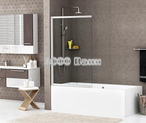 Стеклянная шторка на ванну WasserKRAFT Main 41S02-80 800x1400