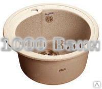 Granfest RONDO кухонная мойка врезная 450мм (сиф. Анигрот, пр-во Анипласт, Россия), цвет бежевый, GF-R450