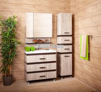 Комплект мебели для ванной Техас 80 дуб кантри