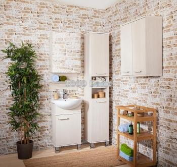 Комплект мебели для ванной Карибы 50 светлая лиственница