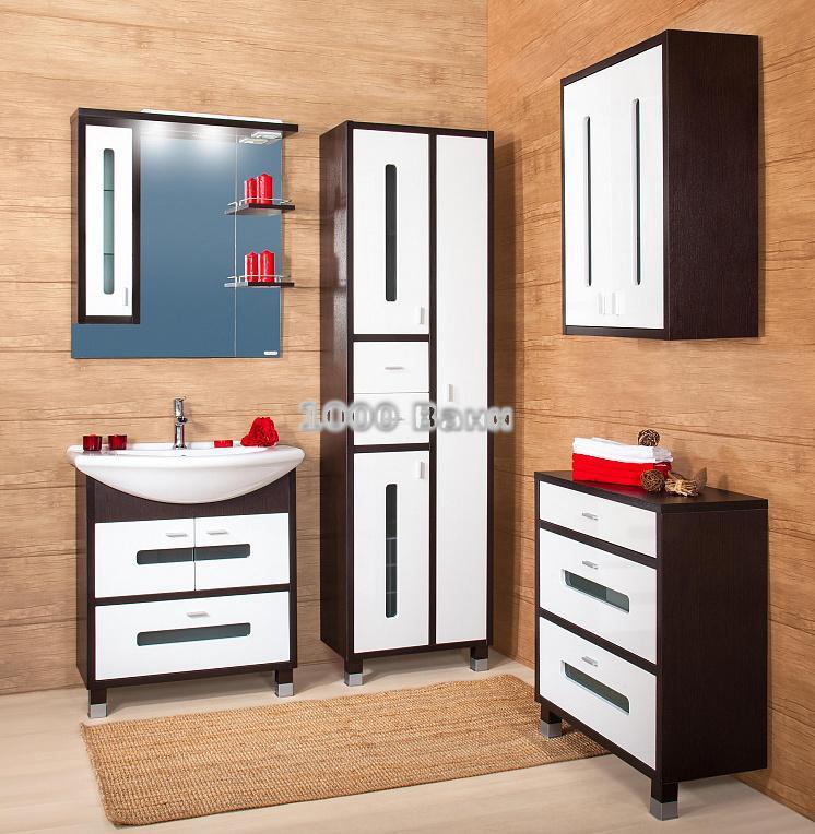 Комплект мебели для ванной Бали 75 Венге