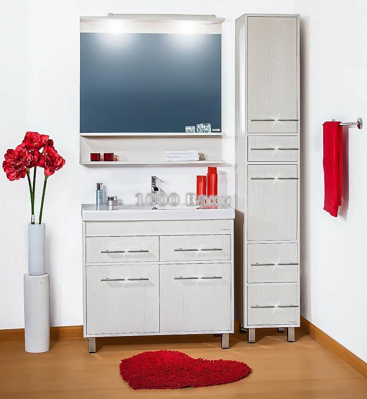 Комплект мебели для ванной Чили 90 светлая лиственница