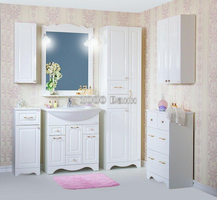 Комплект мебели для ванной Анна 75 Белая