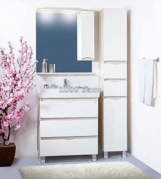 Комплект мебели для ванной Токио 80 светлая лиственница