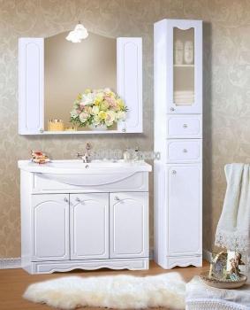 Комплект мебели для ванной Лючия 100 белый глянец
