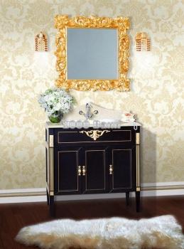 Комплект мебели для ванной Флоренция 85 черная