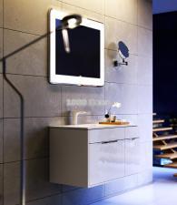 Комплект подвесной мебели Aqwella Malaga 90 белый левый