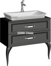 Комплект напольной мебели Aqwella Ladonna черный