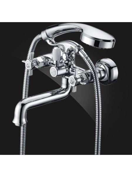 Смеситель Elghansa PRAKTIC CHROME 2312660 для ванны двухвентильный с душевым комплектом
