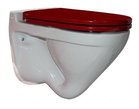 Подвесной унитаз Sanita Luxe Attica Color Red SL DM