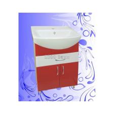 Тумба Андария Балтика 60 Красно-Белая с ящиком